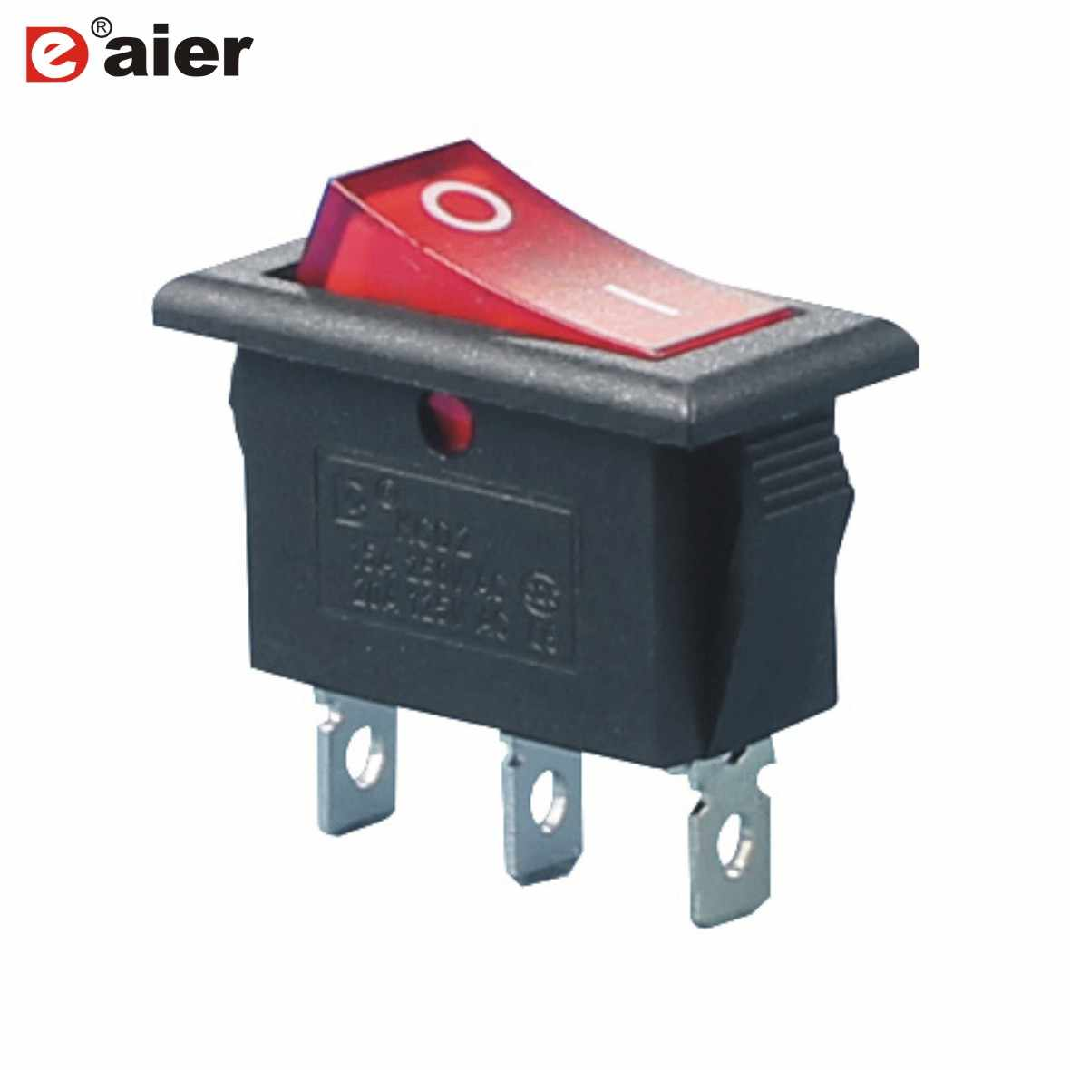 5 Pcs KCD3-3-101N Diterangi 220V On/Off Rocker Switch Tiang Tunggal Lempar 2 Posisi 20A 125VAC dengan Lampu LED
