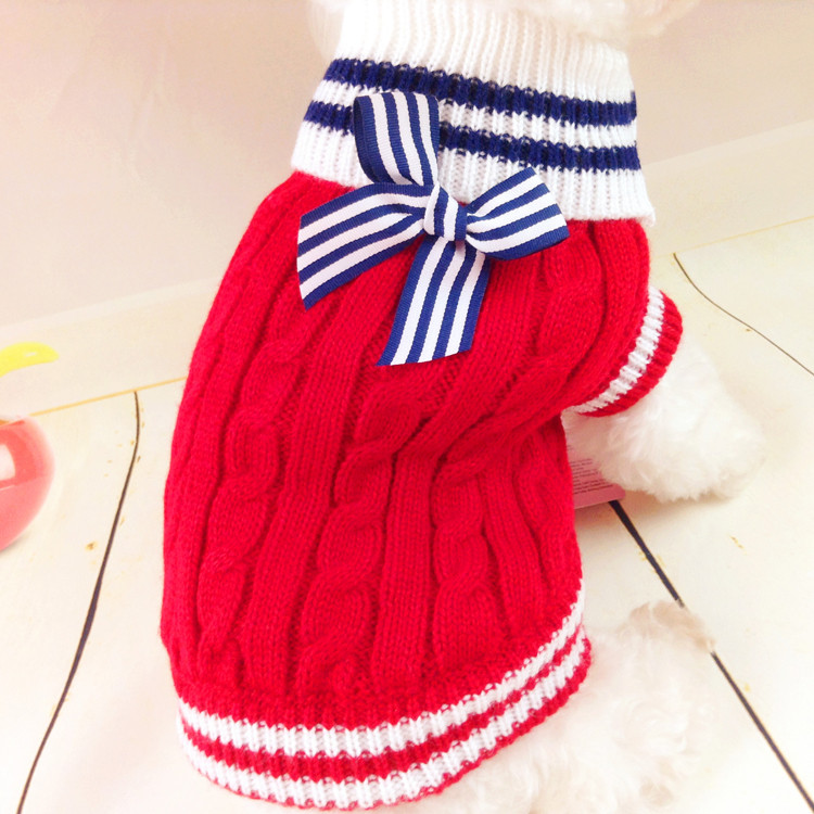 Free Shipping Dog Sweater Clothes Pet Winter Warm Clothing Classic Design Puppy Apparel Costume Fashion Design