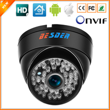 BESDER Wide Angle 2.8mm Vandal Proof 720P IP Camera Dome Waterproof 48 Pcx IR LED Internet Network IP Camera IR Cut ONVIF