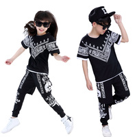 Summer Children Hip Hop Style Clothing Sets Boys Girls Fashion Casual 3pcs Suits Kids Clothes Twinset