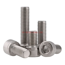 DIN912 M5 304 Stainless Steel Metric Thread Hex Socket Head Cap Screw Bolts M5*(5/6/8/10/12/14/16/18/20/22/25/30/35/40/45/50) mm 100pcs lot m5x5 mm m5 5 mm 12 9 alloy steel hex socket head cap screw bolts set screws with cup point m5 5 mm