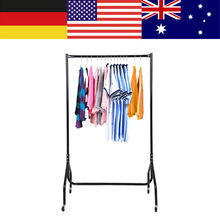 3FT Heavy Duty Garment Rack Rolling Metal Free Standing Clothes Rack Stand Portable Hanging for Clothes,Jacket,Shirt,Long Dress