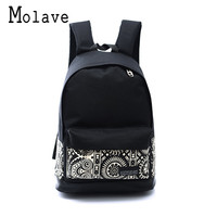 MOLAVE 2017 Men Male Canvas Backpack College Student School Backpack Bags for Teenagers Vintage Mochila Casual Rucksack 0831