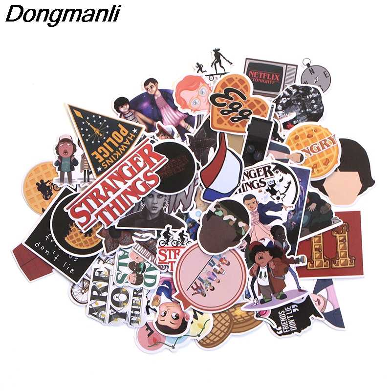 66pcs Stranger Things Not Repeating Scrapbooking for wall notebook phone luggage laptop bicycle guitar Decal album sticker M2672