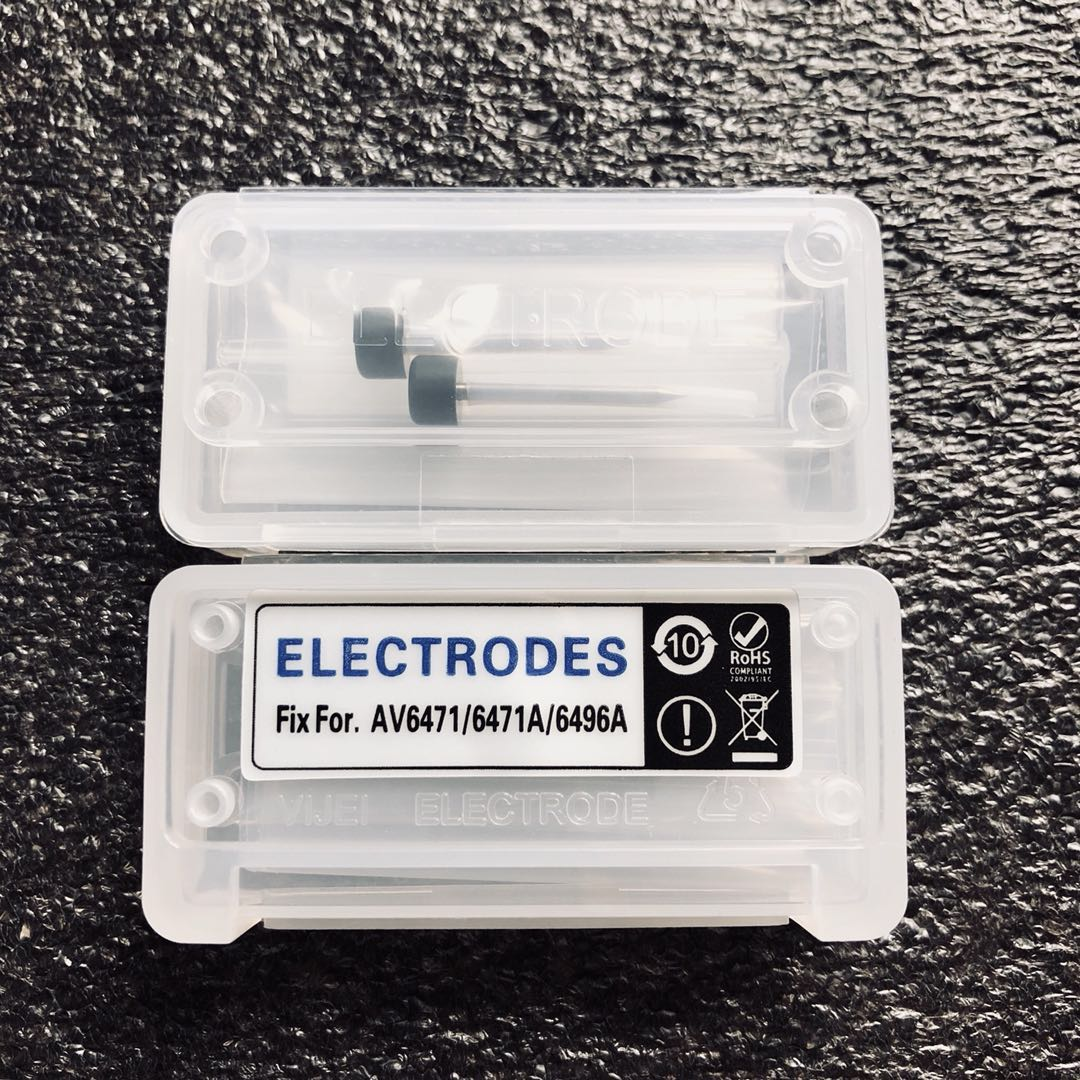 Fiber fusion splicer electrode rod for AV6481 T45 fiber fusion splicer electrode 1 PairFiber fusion splicer electrode rod for AV6481 T45 fiber fusion splicer electrode 1 Pair