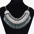 2017 Fashion Power choker Statement Bohemian necklace pendants Vintage Coin gypsy ethnic Silver maxi Necklace Women fine Jewelry
