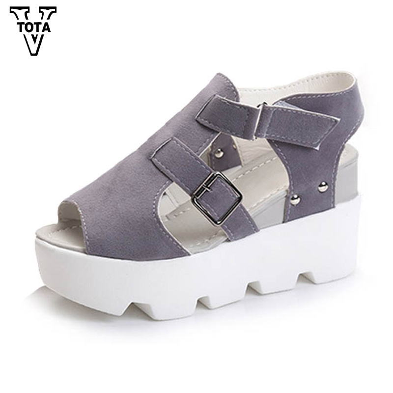 цены VTOTA 2018 Summer Shoes Gladiator Women Sandals Fashion Shoes Woman Platform Shoes Sandalias Wedges Leisure High Heel KM
