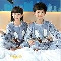 Pijamas de los niños niños Muchachas de Los Muchachos de Invierno ropa de Dormir de Los Niños Ropa de Niños Niñas niños pijamas Pijamas Suave ropa de Dormir kids Homewear