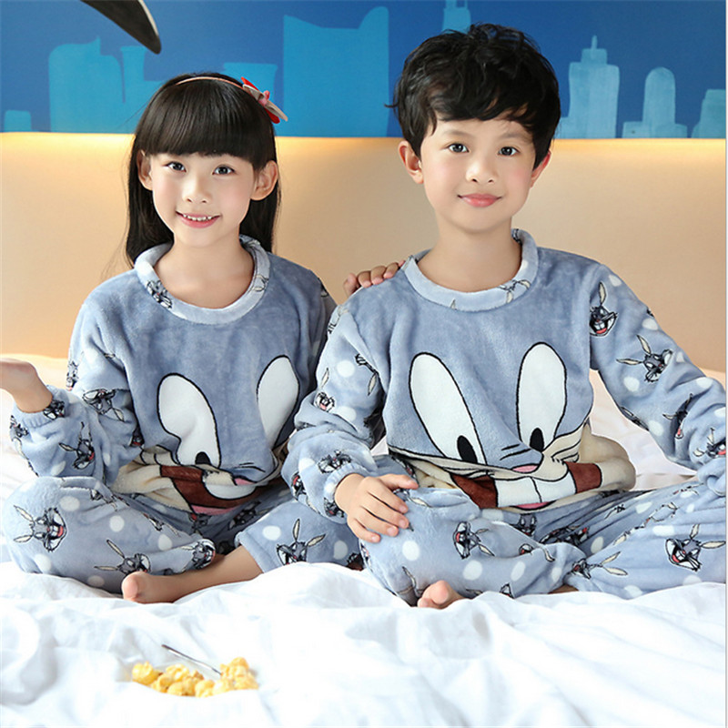 e4a997e6d pyjamas kids Boys Girls Winter Sleepwear Children Clothes Kids ...