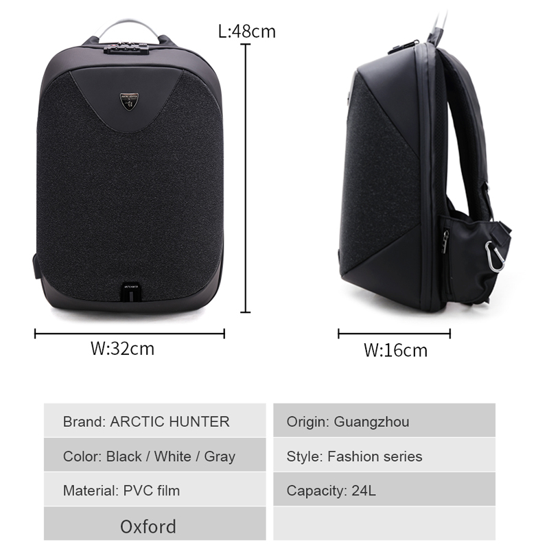Men's Backpack With Usb Charge Port Waterproof 15.6 Laptop Travel Business Usb Bagpack Male School Student Bags For Boys Girls #5