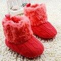 Zapatos Recién Nacidos del bebé de Punto de Ganchillo de Lana Botas de Nieve de Lana Zapatos Del Pesebre Del Niño Niño Niña Invierno Botines