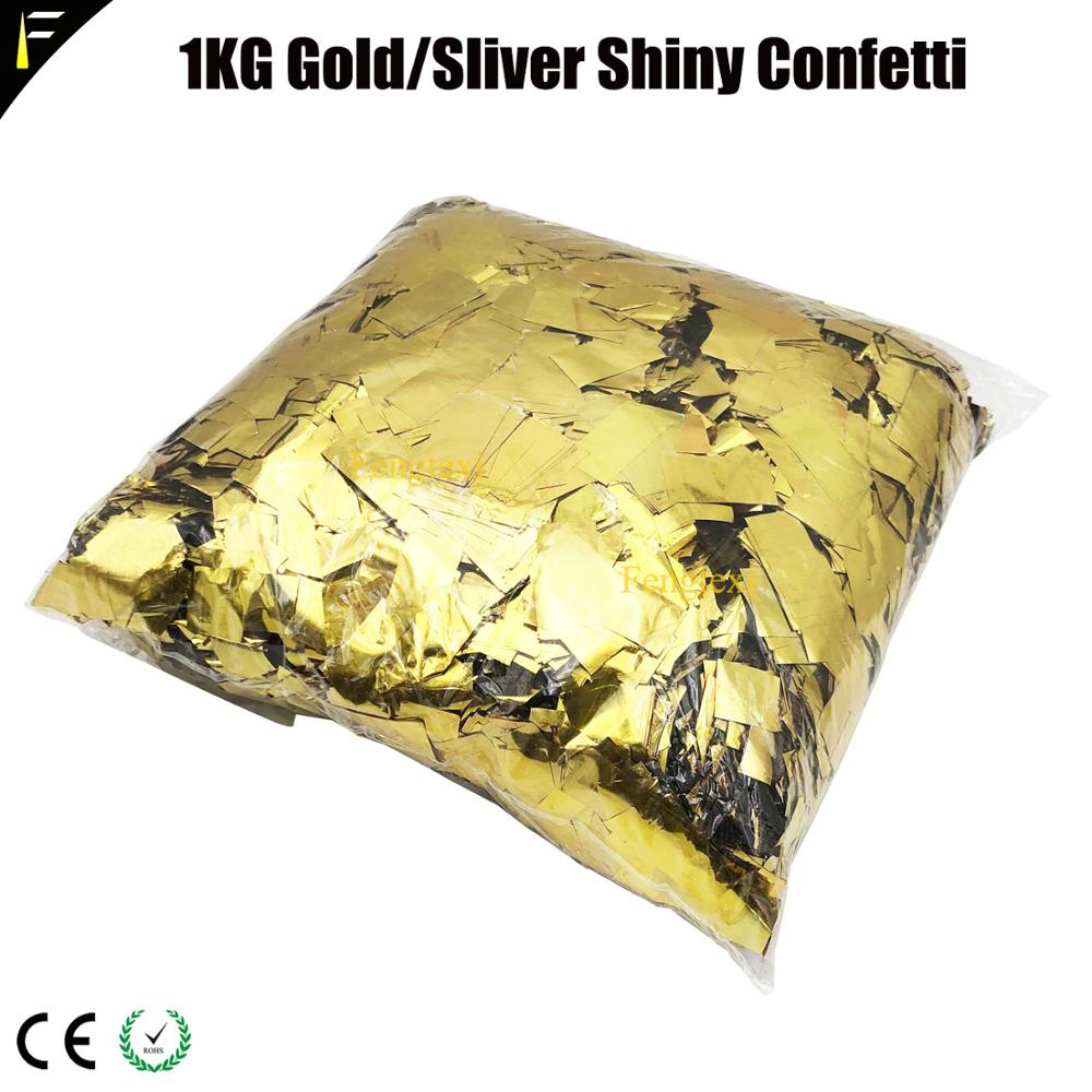 Shiny PVC Confetti Metallic White Sliver/Gold Color Rectangular Shape Paper Fast Filling Of The Confetti Shooter Machine