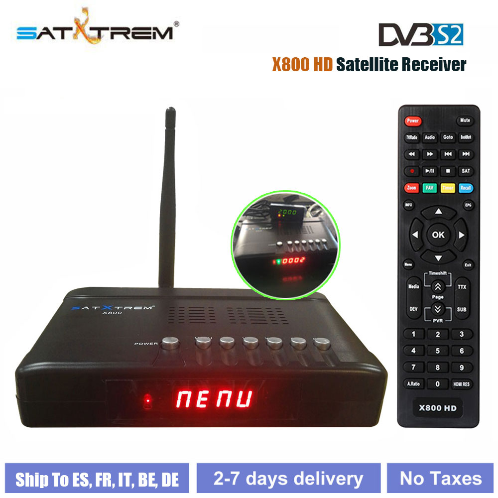 Satxtrem X800 HD 1080P DVB S2 High Definition Digital Satellite Receiver DVB S/S2 Receptor ...