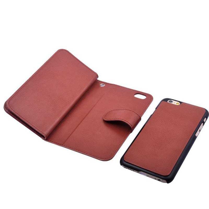 Manyetik 2 in 1 cüzdan deri + 9 kart sahipleri + nakit yuvası + fotoğraf çerçevesi durumda Apple iPhone 5 5S 5G Flip kapak deri çanta kahverengi