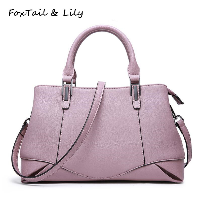 FoxTail & Lily New Brand Ladies Elegant Handbags Genuine Leather Women Shoulder Bag Luxury Designer Crossbody Bags High Quality qiaobao 100% genuine leather handbags new network of red explosion ladle ladies bag fashion trend ladies bag