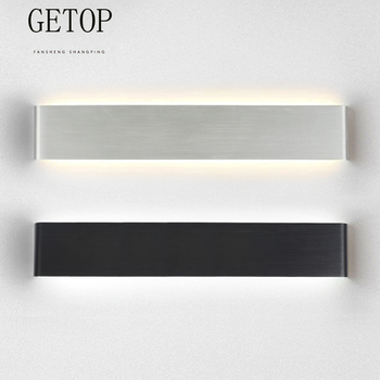 AZYY Indoor Wall Lamp Square Aluminum Bedroom Bedside Bathroom Lamp Modern Simple Interior LED Hotel project lights 10W 20W 24W