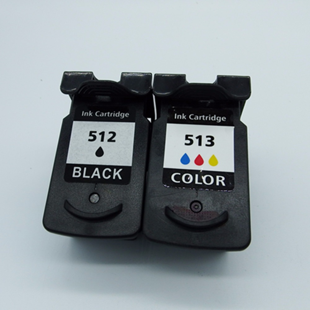 Remanufactured <font><b>Ink</b></font> <font><b>Cartridges</b></font> For <font><b>Canon</b></font> PG-512 XL PG-512XL PG 512 PG512 CL-513XL CL513 Pixma iP2700 iP2702 MP240 <font><b>MP250</b></font> MP252 image