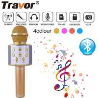 Bluetooth Wireless Microphone WS858 Karaoke Speaker High-end Version Mic KTV Player Phone Mike For Computer Stage Conference