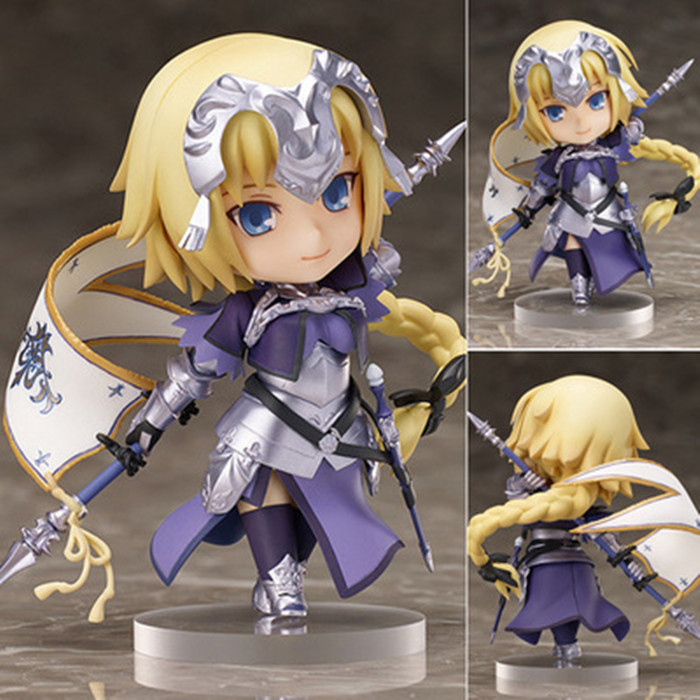 Fate/Stay Night Action Figures Saber Nendoroid Ruler PVC 100mm Fate Grand Order Anime Model Toys Fate Stay Night KB0766 fate stay night fate cosplay saber 14cm 5 5 boxed faceswipe garage kit action figures toys face change model