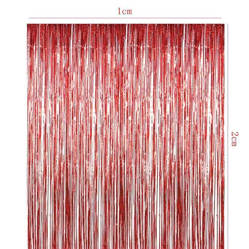 Tronzo 1 * 2 M Nieuwe Tinsel Folie Fringe Gordijn Voor Deur Window - Feestversiering en feestartikelen - Foto 6