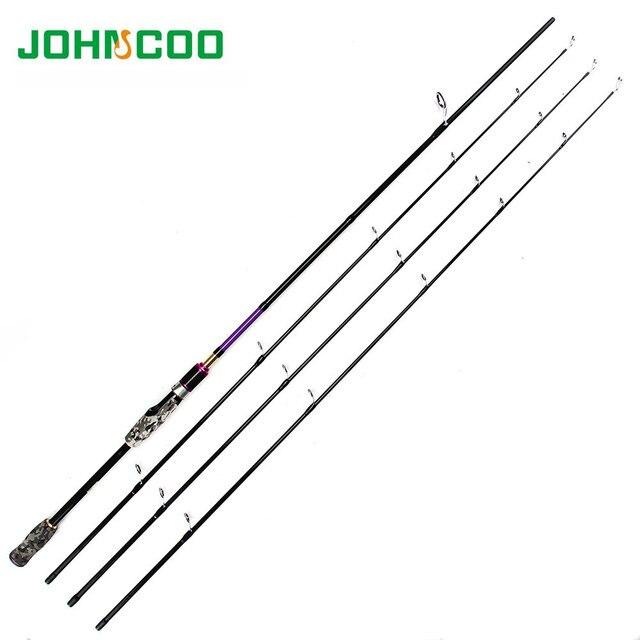 Canne à pêche filature 2.1 m 2.4 m 3 embouts ML M MH 7 'carbone Action rapide canne à pêche filature leurre cannes à pêche Johncoo thunderbolt