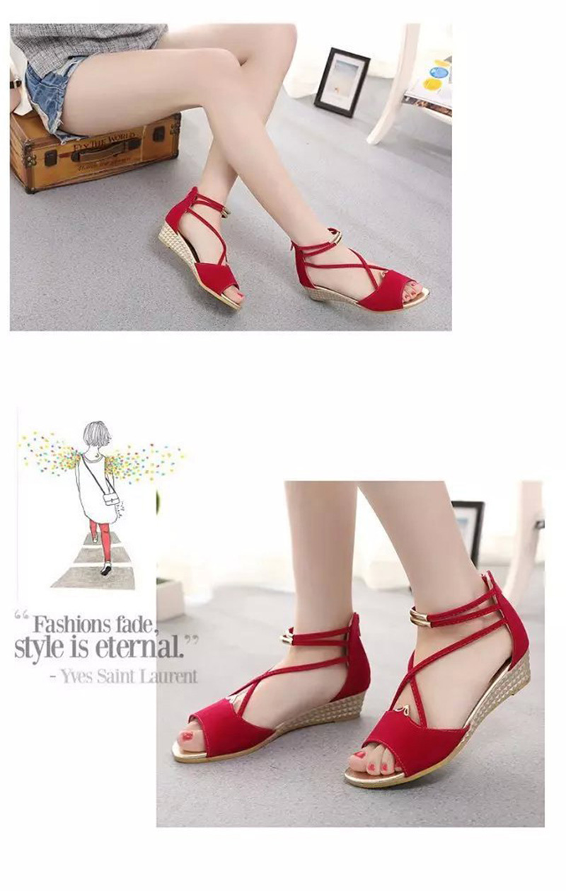HTB1 m93aiYrK1Rjy0Fdq6ACvVXaa Peep toe Sandals Women Summer Shoes 2019 Women Wedges Sandals Fashion Summer Ladies Wedge Shoes Woman Sandal Black Red Blue A679