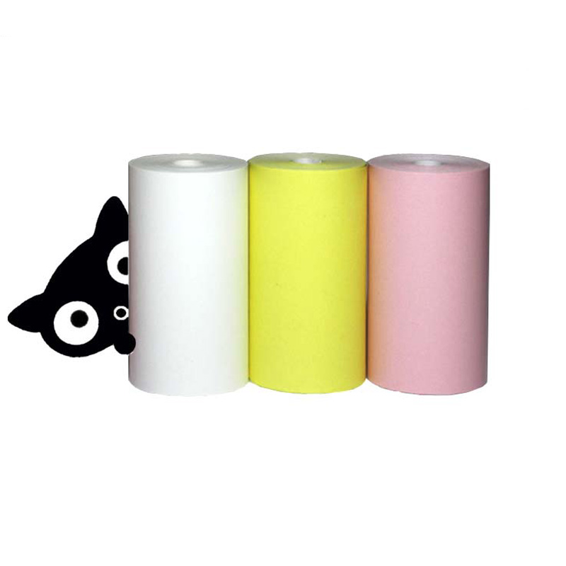 PAPERANG  Color thermal printing paper 57 * 30 thermal paper Bill receipt paper 3 rolls Free postage thermal cash register paper printing paper white 80mm