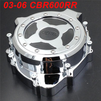 For 03 06 Honda CBR600RR CBR 600RR F5 Engine Stator Crank Case Cover Engine Guard Protection Side Shield Protector CHROME