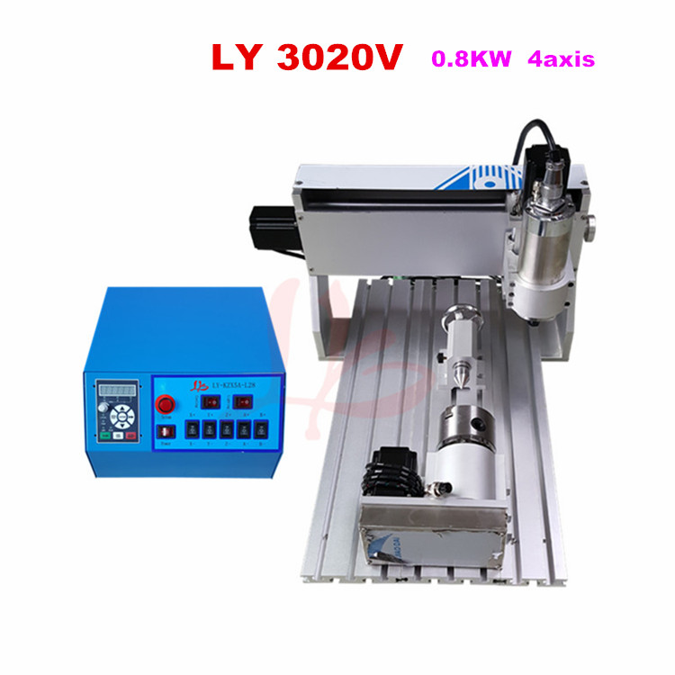 No tax ship to Russia,4 axis mini cnc engraver machine 3020V 800w spindle,easy to operateNo tax ship to Russia,4 axis mini cnc engraver machine 3020V 800w spindle,easy to operate