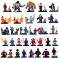 32 Шт./лот Marvel Super Heroes Цифры Мстители Deadpool Строительные Блоки Модель Кирпичи Игрушки Подарок для Детей