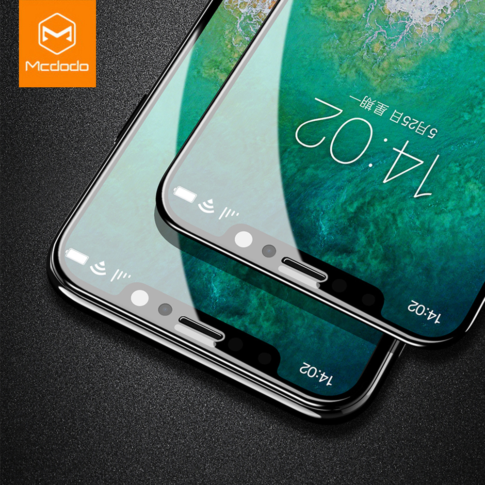 Mcdodo 0.25mm 3D High Definition Tempered Glass For iPhone X Soft Edge Full Cover Anti-burst Screen Protector For iPhone X 10