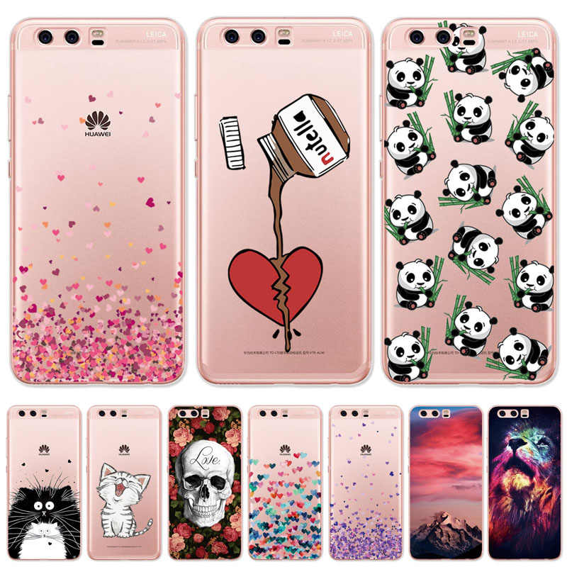 Soft TPU Case For Huawei P20 P10 P9 P8 Lite 2017 Transparent Slim Pattern Cover For Huawei Honor 7X 6X 7 8 9 10 Lite Cases