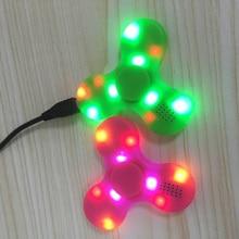Multifunction Led Fidget Spinner + Bluetooth Speaker Led Light Up Tri Fidget EDC Hand Spinner Anti Stress For Adult Kids Toys