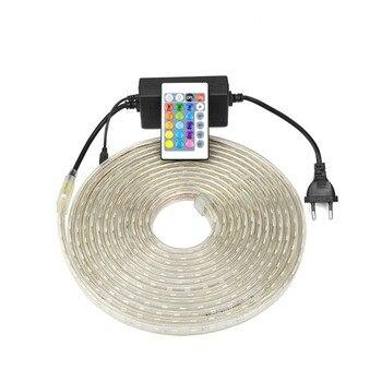 EU plug Waterproof led kitchen lamp 220V wardrobe cabinet light closet cupboard lighting bedroom lamp 5M  10M 15M 20M 25M