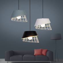 Modern nordic minimalist pendant light kitchen dinner room cafe room bar lamp creative lron LED hanging light indoor lights e27 цена