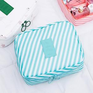 Image 2 - Twill Flower Mesh Cosmetics Package Travel Portable Square Cube Makeup Organizer Make Up Organizador Penteadeira Kutu Pendientes