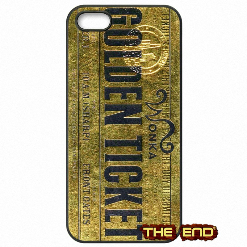 For Samsung Galaxy Note 2 3 4 5 7 S S2 S3 S4 S5 MINI S6 S7 edge Willy Wonka Bar With Golden Ticket Hard Phone Cases Covers