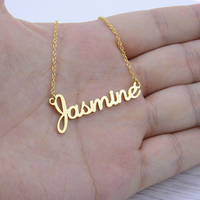 Custom Name Necklace Personalized Actual Handwriting Signature Pendant Necklace Women Men Choker Jewelry Customized Gift For
