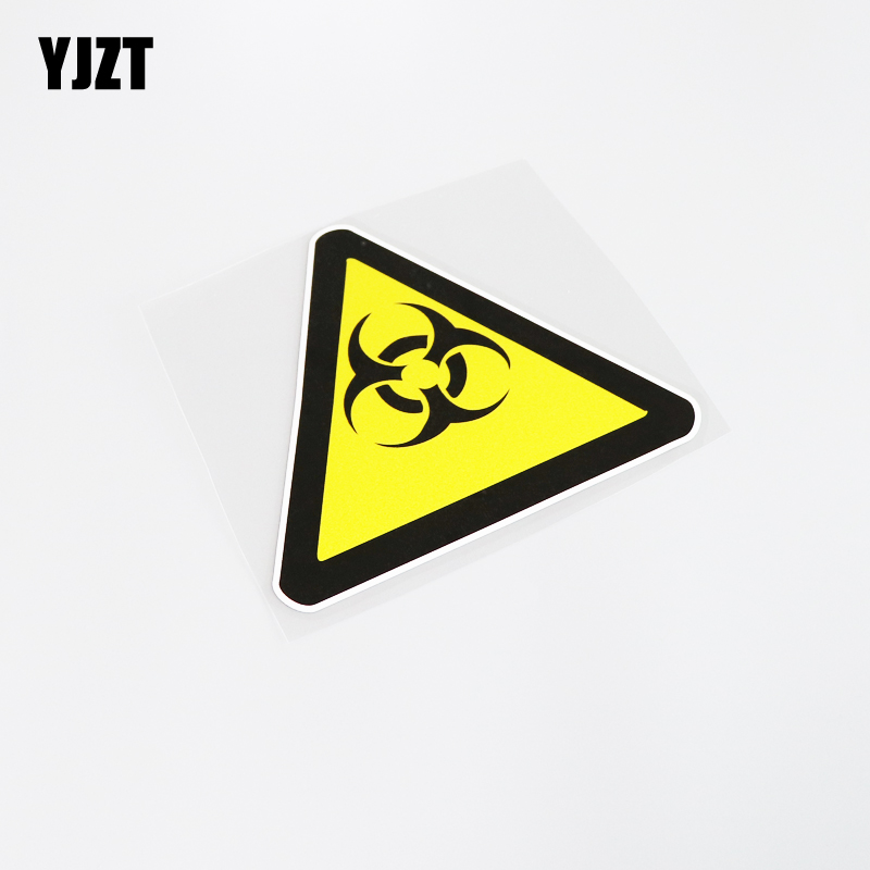 YJZT 14.3CM*12.8CM Warning Biological Hazard Personality Decoration Car Sticker Decal PVC 13-0171