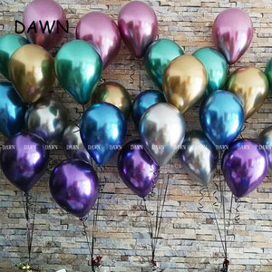 Image 3 - 10pcs/lot New Glossy Metal Pearl Latex Balloons Thick Chrome Metallic Colors Inflatable Air Balls Globos Birthday Party Decor