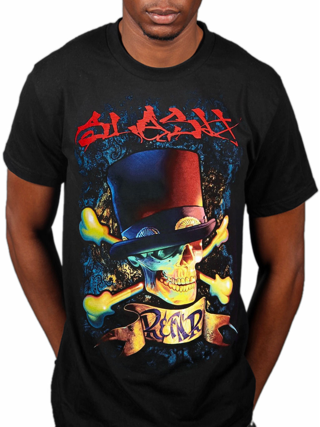 Slash R Amp FNR T-Shirt World On Fire Made In Stoke Apocalyptic Love