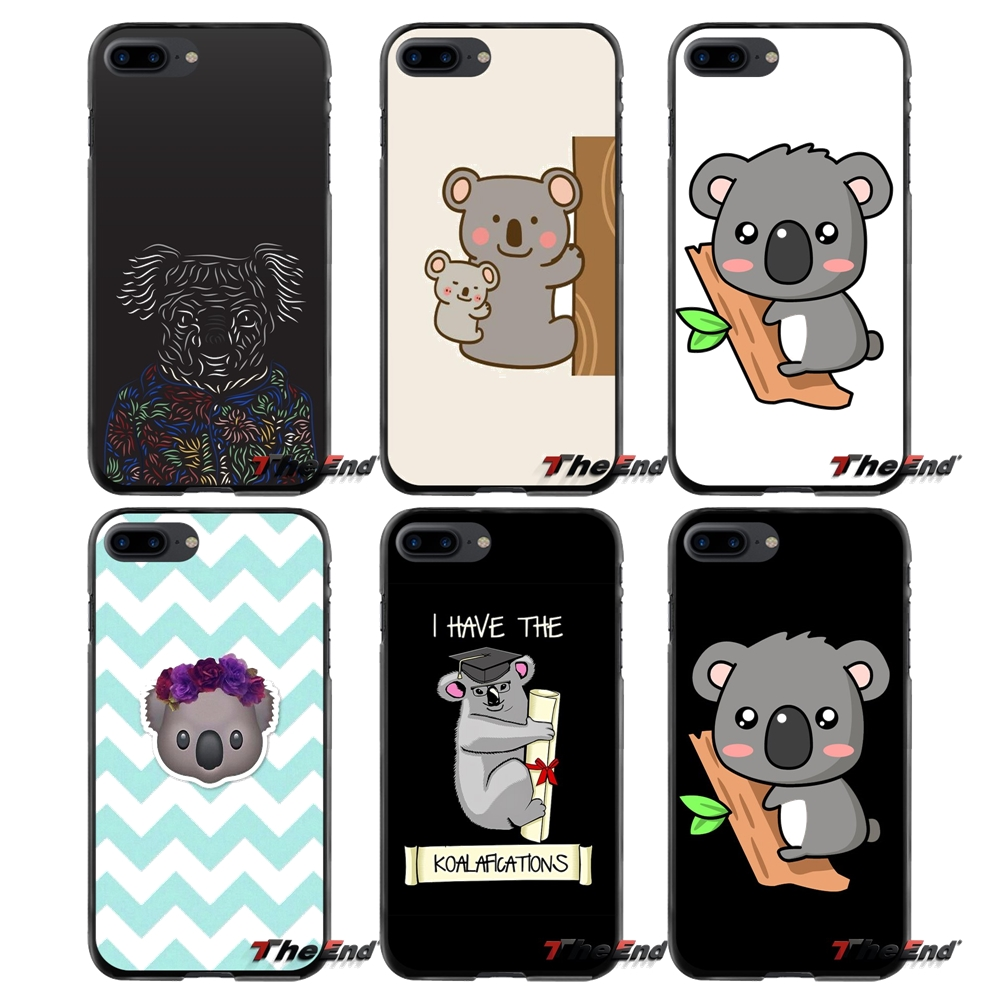 cute Koala For Apple iPhone 4 4S 5 5S 5C SE 6 6S 7 8 Plus X iPod Touch 4 5 6 Accessories Phone Shell Covers
