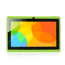 Yuntab 7 pulgadas Android Tablet Q88, 1024*600 A33 Verde Color Quad Core 1.5 GHz 512 MB + 8 GB de Doble Cámara, soporta WIFI 3G Externo