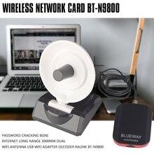 Password Cracking Beini Internet Long Range 3000mW Dual Wifi Antenna USB Wifi Adapter Decoder Ralink BT-N9800 5pcs 3000mw high power n9100 wireless usb wifi adapter for ralink 3070 chipset