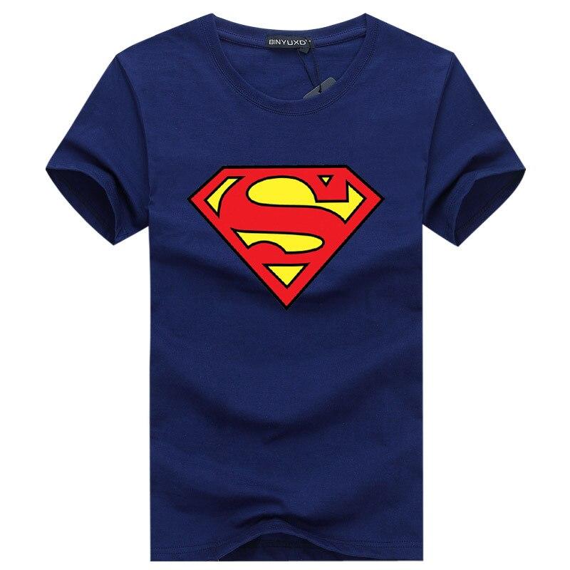 2019 Summer Superman Short Sleeve T-shirt Male Plus Youth Half Sleeves T-shirt Tide Manufacturer Tshirt Mens
