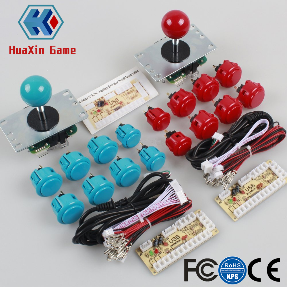 Classic 2 Player Sanwa Arcade DIY Kit for PC Joystick and Push Button & Raspberry Pi Retro Pie DIY Projects & Mame Jamma Parts ...