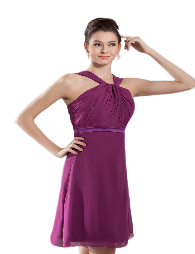 Online get cheap purple short bridesmaid dresses aliexpress hot purple pleated chiffon knee length short bridesmaid dresses party gowns custom size 4 6 8 ombrellifo Choice Image