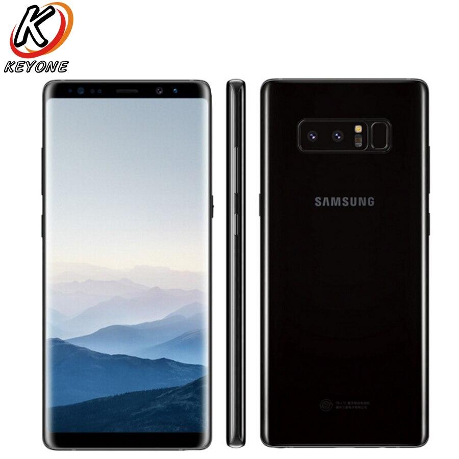 Original novo Samsung GALAXY Note 8 N9500 4g LTE Mobile Phone 6 gb de RAM 128 gb ROM 6.3 IP68 Dustproof SmartPhone Android À Prova D' Água