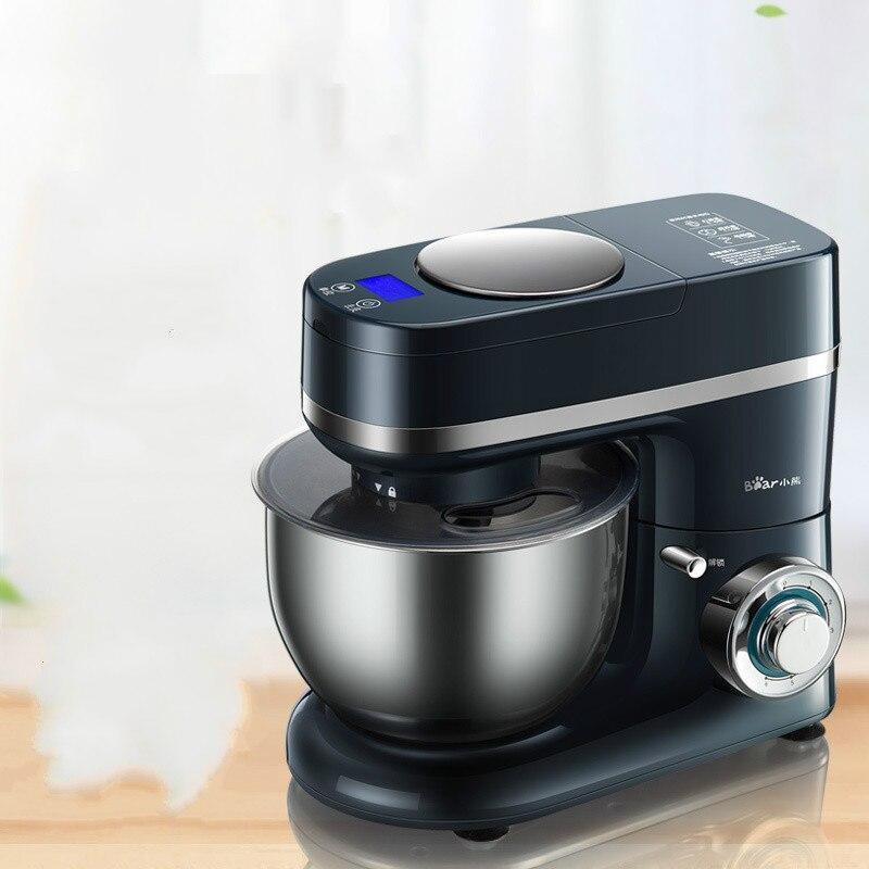 Медведь стоять тесто смеситель с электрическим масштаба Медь двигатель хлеб делая машину бытовой Кухня помощи белое яйцо взбейте