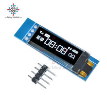 0.91 Inch 128x32 IIC I2C White OLED LCD Display DIY Module SSD1306 Driver IC DC 3.3V 5V For Arduino PIC(China)
